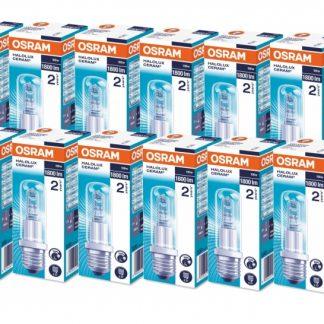 12x Osram Halolux Ceram 64401 E27 T 100 Watt klar